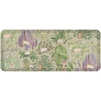 "GelPro® NewLife® Designer Comfort 20"" x 48"" Fresh Herbs Kitchen Mat in Warm Moss"
