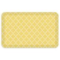 """GelPro® Designer Comfort 20"""" x 32"""" Lattice Floor Mat in Yellow"""