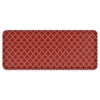 """GelPro® Designer Comfort 20"""" x 48"""" Lattice Floor Mat in Cherry"""