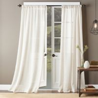 Shetland Solid 63-Inch Rod Pocket Window Curtain Panel in Natural