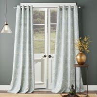 Shetland Print 63-Inch Grommet Top Window Curtain Panel in Teal
