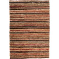 Surya Trinidad Striped Natural 3'3 x 5'3 Area Rug in Rust/Wheat