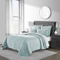 Emerson Matelassé Twin Coverlet Set in Seaglass