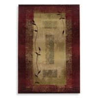 Oriental Weavers Generations Red/Climbing Vine Area Rug - 4-Foot x 5-Foot 9-Inch