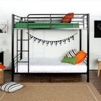 Walker Edison Metal Twin Bunk Bed in Black