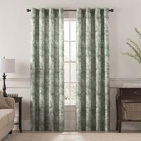 Chantal Printed 63-Inch Grommet Room Darkening Window Curtain Panel in Aegean