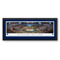 Villanova University 2018 NCAA Basketball Champions Panoramic Arena Print with Deluxe Frame