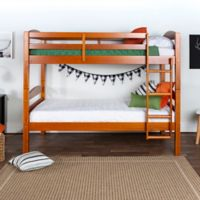 Solid Wood Twin Bunk Bed in Honey