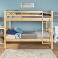 Solid Wood Twin Bunk Bed in Natural