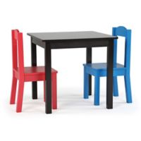 Tot Tutors 3-Piece Square Table and Chairs Set in Espresso/Multi