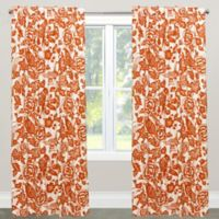 Skyline Furniture Canary 108-Inch Rod Pocket/Back Tab Window Curtain Panel in Orange