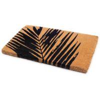 "Fab Habitat 18"" x 30"" Summertime Palm Leaf Door Mat in Tan"