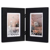 Malden® Urban Loft 2-Photo 4-Inch x 6-Inch Picture Frame in Black