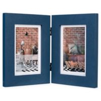 Malden® Urban Loft 2-Photo 4-Inch x 6-Inch Picture Frame in Blue