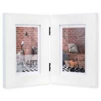 Malden® Urban Loft 2-Photo 4-Inch x 6-Inch Picture Frame in White