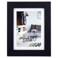 Malden® Urban Loft 4-Inch x 6-Inch Matted Wood Picture Frame in Black