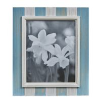 Danya B.™ 8-Inch x 10-Inch Wood Plank Picture Frame in Distressed Blue/Grey/White