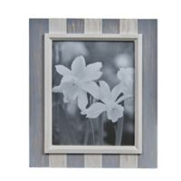 Danya B.™ 8-Inch x 10-Inch Wood Plank Picture Frame in Distressed Grey/White