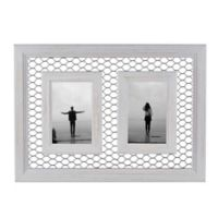 Danya B.™ Double 5-Inch x 7-Inch Chicken Wire Whitewash Wood Picture Frame