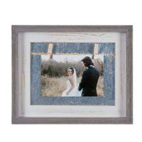 Danya B.™ 4-Inch x 6-Inch Horizontal Wood Picture Frame in Grey/White