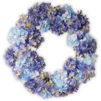 National Tree Company® Garden Accents 25-Inch Hydrangea Wreath in Blue
