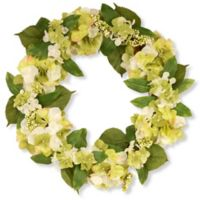 National Tree Company® Garden Accents 24-Inch Hydrangea Wreath in Yellow