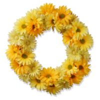 National Tree Company® 19-Inch Artificial Garden Accents Yellow Cosmos Wreath