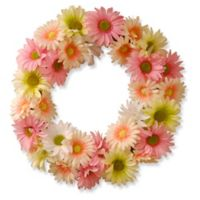 National Tree Company® 19-Inch Artificial Garden Accents Pink/Yellow Cosmos Wreath