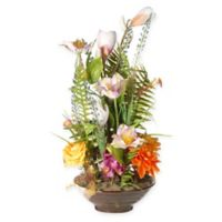 National Tree Company 17-Inch Artificial Floral Arrangement with Ceramic Pot