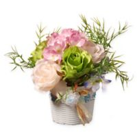 National Tree Company 7-Inch Artificial Flower Assortment in Woven Basket