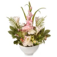 National Tree Company® Artificial Daisy, Carnation and Lily Flower Arrangement