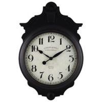 Sterling & Noble® Dublin Pub Wall Clock in Black