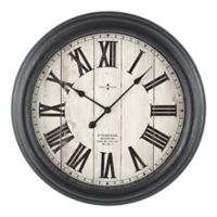 Sterling & Noble 24-Inch Rustic Farmhouse Wall Clock in Black