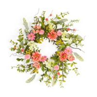 16-Inch Artificial Flowers and Berries Wreath