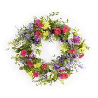 Melrose International 17.5-Inch Artificial Mixed Floral Wreath