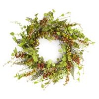 16.5-Inch Mixed Berry Foliage Artificial Wreath
