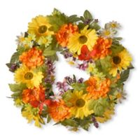 National Tree Company® 18-Inch Artificial Daisy Wreath in Yellow