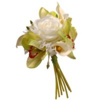 National Tree Company® 10.25-Inch Artificial Spring Flower Bouquet in White