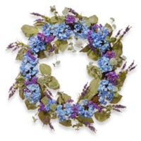 National Tree Company® 32-Inch Hydrangea Artificial Wreath in Blue
