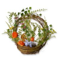 National Tree Company® 16-Inch Spring Ring Artificial Basket