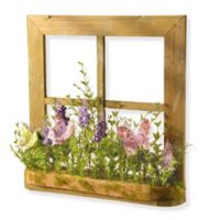 National Tree Company® 14-Inch Window Sill with Artificial Flowers and Butterflies