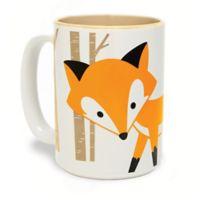 Woodland Fox Mug in White