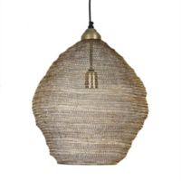 Kenroy Home Webster Pendant in Antique Brass