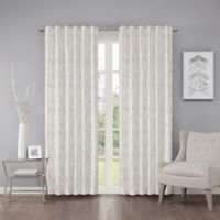 Regency Heights Cosma 95-Inch Rod Pocket/Back Tab Window Curtain Panel in White