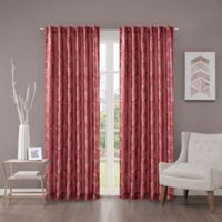 Regency Heights Cosma 63-Inch Rod Pocket/Back Tab Window Curtain Panel in Red