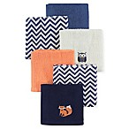 Hudson Baby® 8-Pack Fox Woven Terry Washcloths in Blue