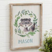Woodland Raccoon 14-Inch x 18-Inch Barnwood Frame Wall Art