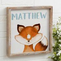 Woodland Fox 12-Inch x 12-Inch Barnwood Frame Wall Art