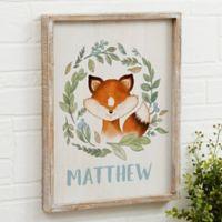 Woodland Fox 14-Inch x 18-Inch Barnwood Frame Wall Art