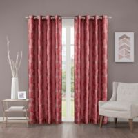 Cosma 63-Inch Grommet Room Darkening Window Curtain Panel in Red